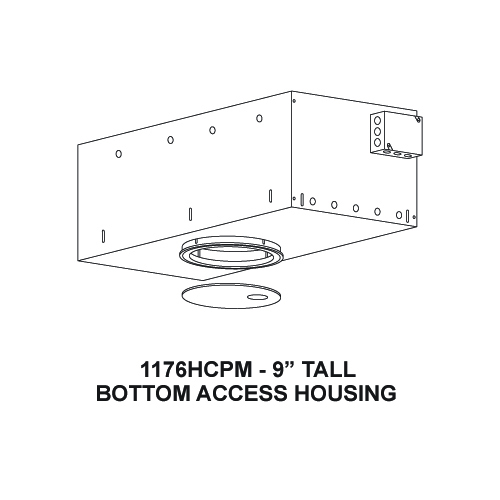 Recessed Bottom Access Art Lighting Framing Projector Housing Flush Trim