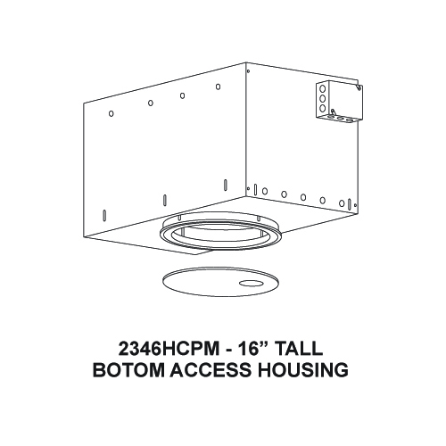 Recessed Bottom Access Large Art Lighting Framing Projector Flush Trim Housing