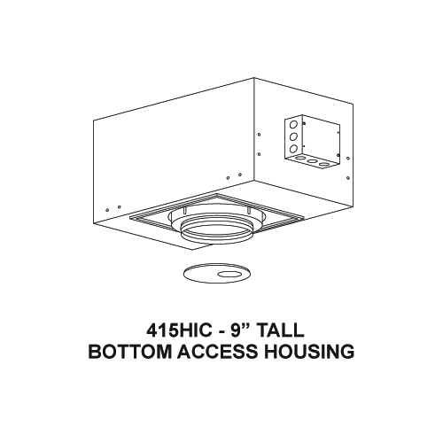 Small Recessed Art Lighting Housing Air Tight